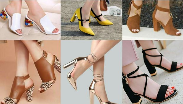 buy a dazzling pair of block heel sandals